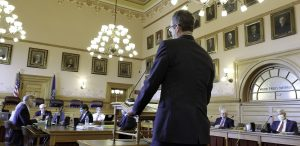 Senators tasked with vetting Carl Folsom for an appeals court vacancy complained that his experience as a public defender was too narrowly focused. (Sherman Smith/Kansas Reflector)