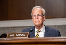 U.S. Sen. Jerry Moran, a Kansas Republican, celebrated signing into law a measure designed to expand mental health services to veterans. Moran and U.S. Jon Tester, a Montana Democrat, introduced the reform package in March 2019 and President Donald Trump signed it Saturday. (Submitted to Kansas Reflector)