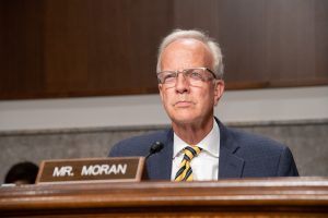 """U.S. Sen. Jerry Moran, a Kansas Republican, responded to speculation about transfer of presidential power if Joe Biden defeats Donald Trump by saying a """"peaceful transition of power is an essential part of our democracy."""" (Submitted to Kansas Reflector)"""