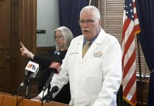 Lee Norman, secretary of the Kansas Department of Health and Environment, said the spread of COVID-19 provided extra incentive for people to get an influenza vaccination. He expects Kansas hospital resources to be stretched this fall and winter from exposure to the flu and coronavirus. (Tim Carpenter/Kansas Reflector)