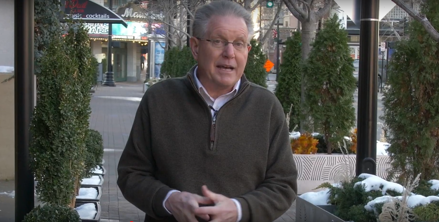 Former WDAF chief meteorologist and current Kansas Sen. Mike Thompson in a video announcing why he has formed a nonprofit called the Academy for Climate and Energy Analysis. (Screenshot)