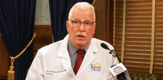 Lee Norman, secretary of the Kansas Department of Health and Environment, said wearing masks, improving testing capacity and isolating people infected with COVID-19 was the best approach during the pandemic as long as there is no approved vaccine. (Sherman Smith/Kansas Reflector)
