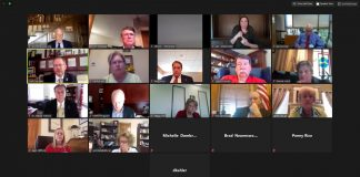 Members of the Kansas State Board of Education meet via video conference Wednesday to consider the governor's order delaying the opening of public schools until after Labor Day. (Screenshot of Kansas State Board of Education virtual meeting)