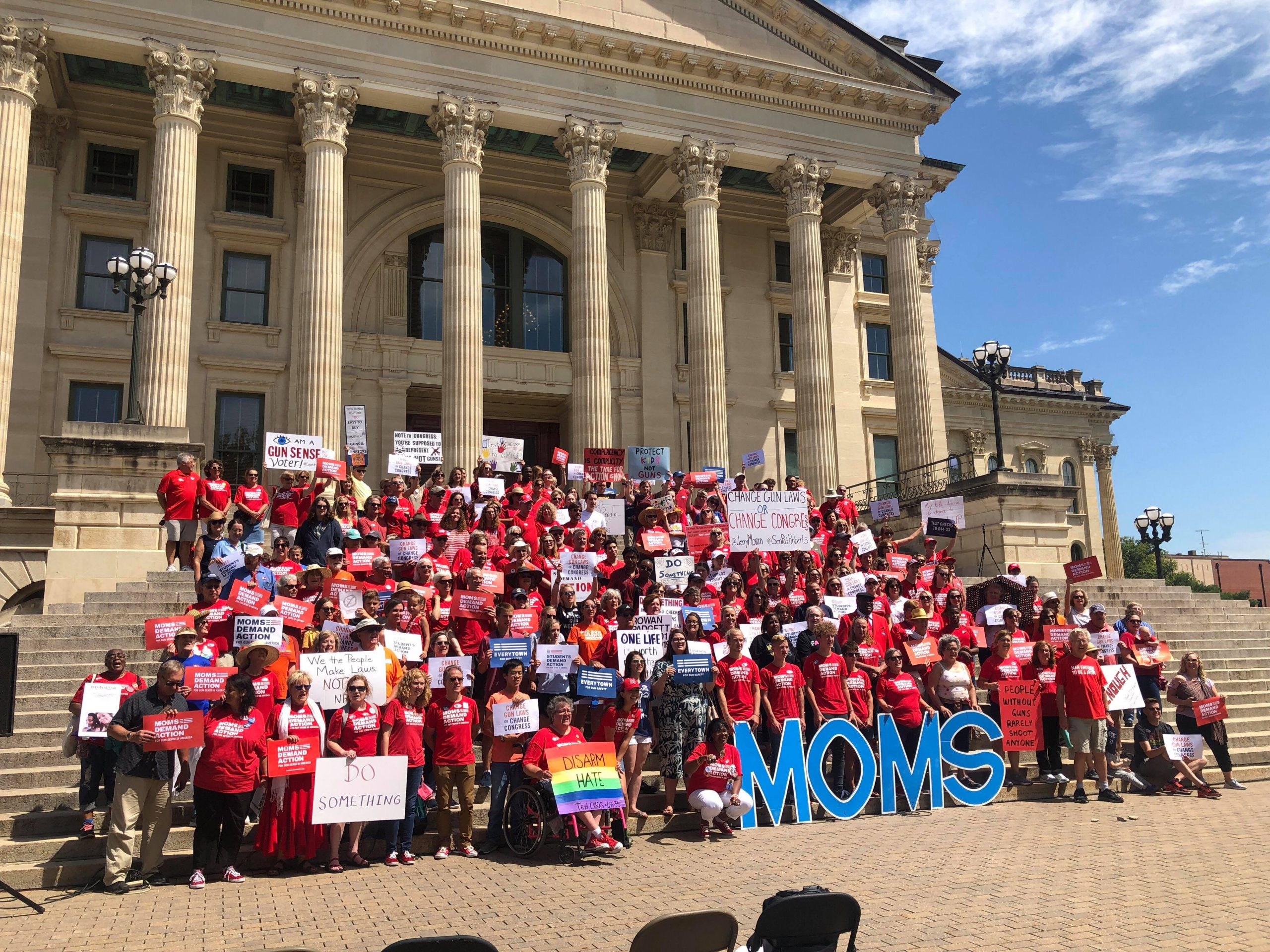Kansas Moms Demand Action at a rally at the Capitol in August 2019. (Submitted)