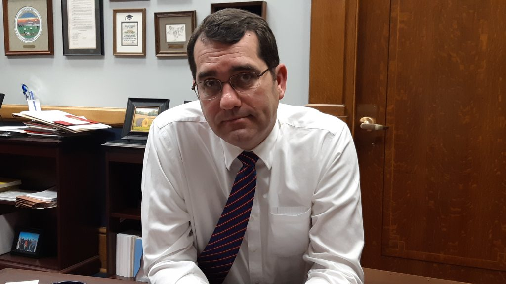 Kansas Attorney General Derek said elderly Kansans should be placed in line for the COVID-19 vaccination ahead of younger state prison inmates. (Submitted/Kansas Reflector)