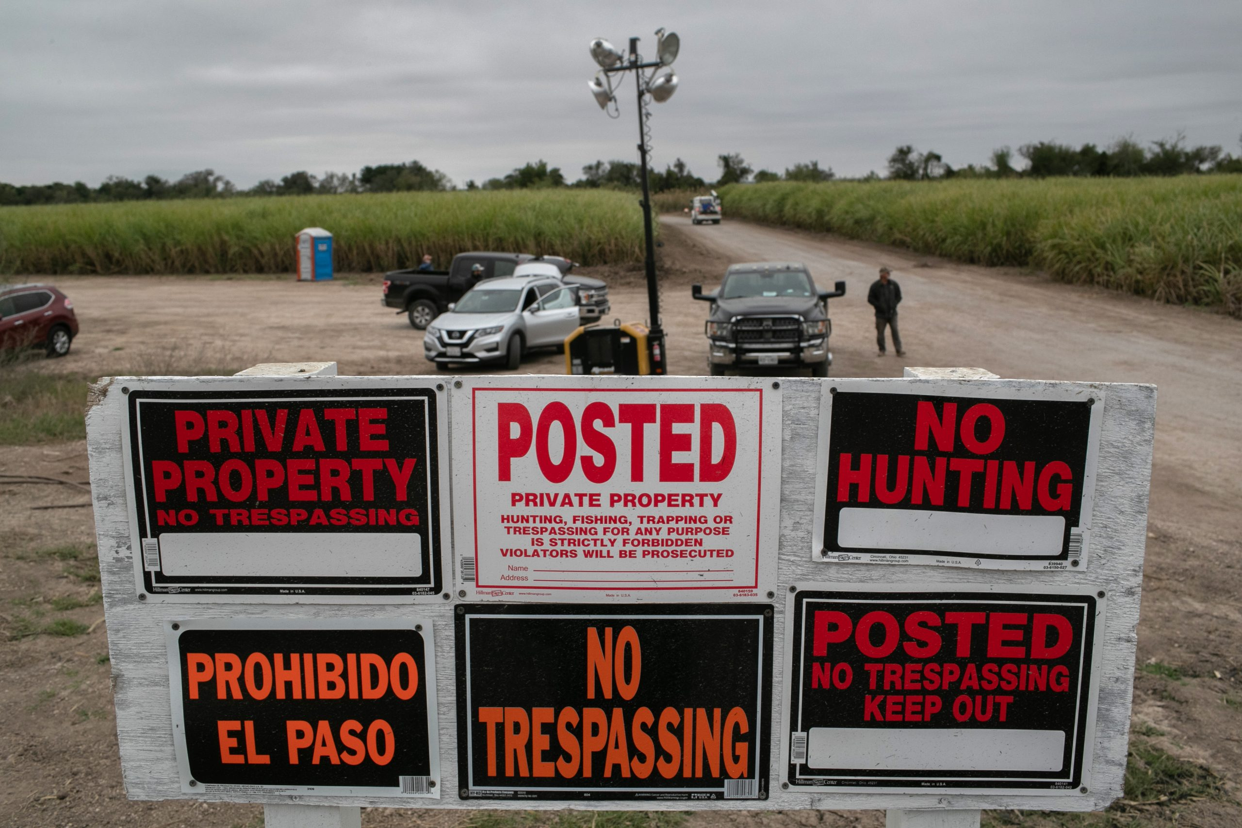 Federal authorities indicted organizers for the We Build the Wall campaign for allegedly lying about not taking personal payments. The hardline immigration group funded construction of a wall on private land along the Rio Grande. (Dec. 11, 2019, photo by John Moore/Getty Images)