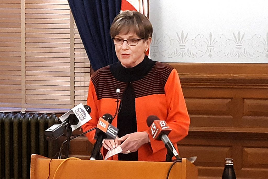 Gov. Laura Kelly renewed an appeal for a new emergency federal COVID-19 package despite state tax revenue surpassing projections for November. (Tim Carpenter/Kansas Reflector)