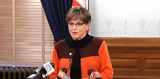 Gov. Laura Kelly said Thursday she directed the Kansas Department of Labor to apply for the new supplemental unemployment benefit program that could deliver $300 per week from the federal government matched by $100 per week from the state to help families during the COVID-19 pandemic. (Tim Carpenter/Kansas Reflector)
