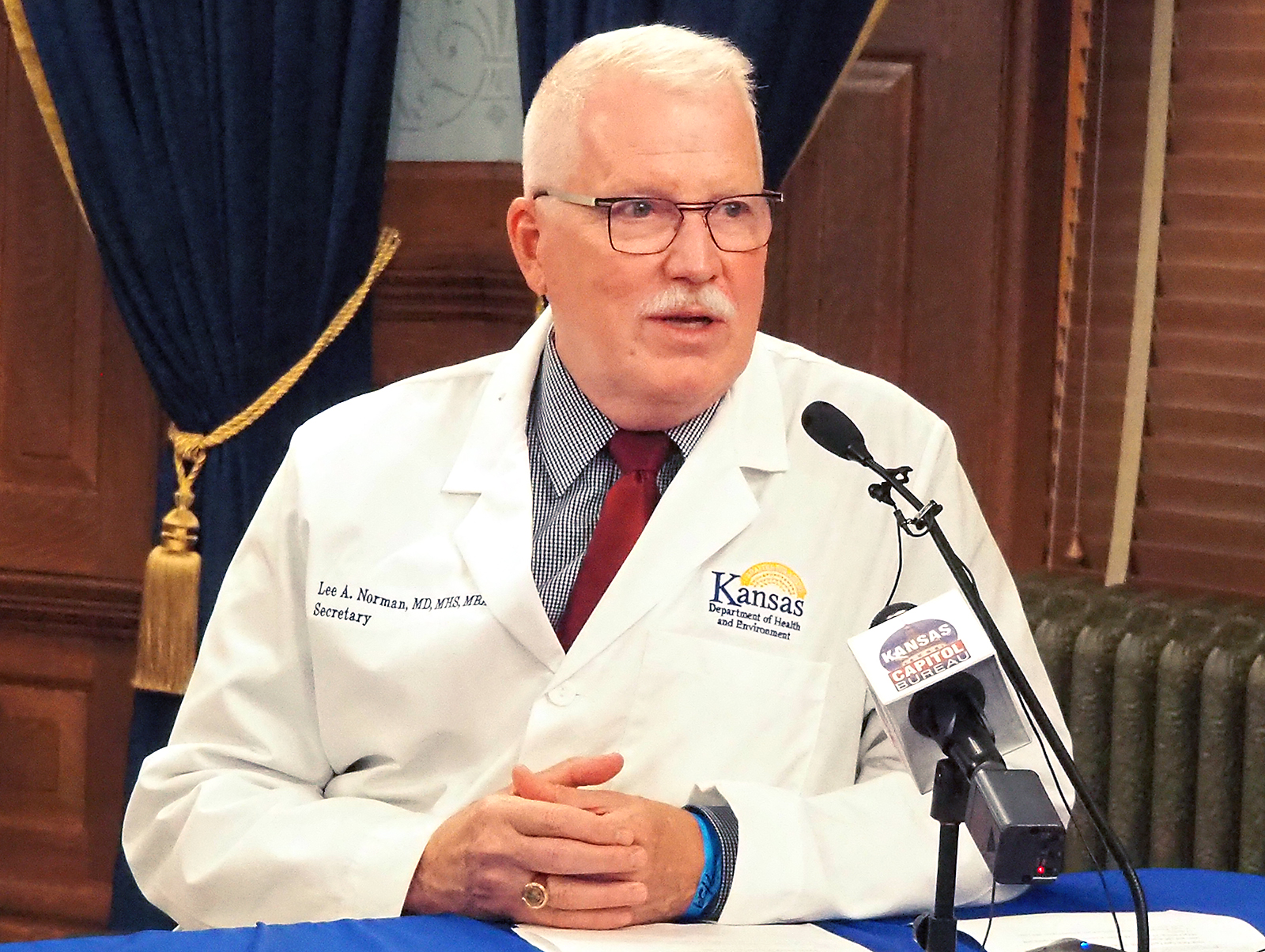 Lee Norman, secretary of the Kansas Department of Health and Environment. (July 29, 2020, photo by Sherman Smith/Kansas Reflector)
