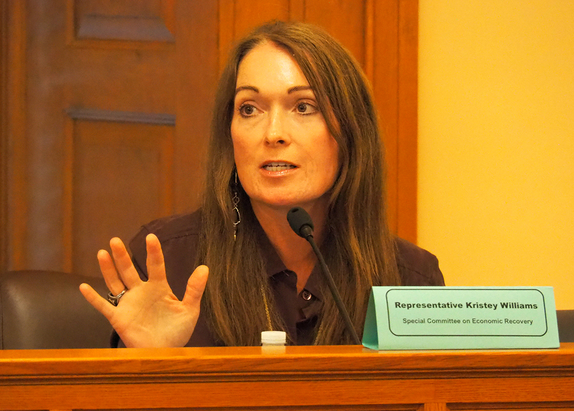 Rep. Kristey Williams, an Augusta Republican, said overspending of $12 million by the state in support of raising Medicaid reimbursement rates might call for imposition of a solid budget cap. (Sherman Smith/Kansas Reflector)