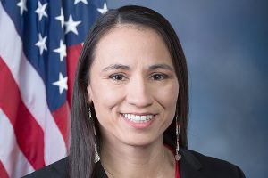 """U.S. Rep. Sharice Davids, a Kansas Democrat seeking re-election in the 3rd District, said """"corrupt politicians are using partisan gerrymandering to manipulate our already broken political system so it benefits their extreme agenda.""""(Submitted/Kansas Reflector)"""