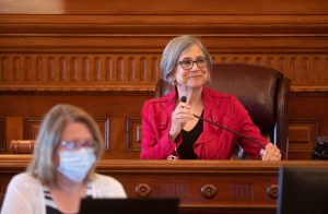 Outgoing Senate President Susan Wagle, a Wichita Republican, said rules implemented ahead of the 2021 legislative session regarding use of the Capitol during the COVID-19 pandemic ought to take into consideration the perspectives of new legislative leadership selected by peers in December and installed in January. (Kansas Reflector)