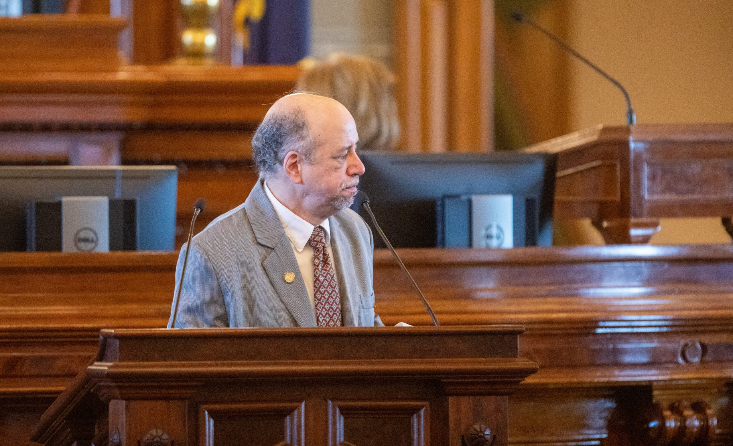 House Minority Leader Tom Sawyer, a Wichita Democrat, says the 2021 Legislature needs to work hard on a bill to legalize sports gambling because the state government needs the new revenue. (Nick Krug for Kansas Reflector)