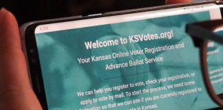 The ksvotes.org website offers the best platform for registering to vote online, but language in the privacy policy raises concerns about the data being collected and whether it could ever be used for political purposes. (Sherman Smith/Kansas Reflector)