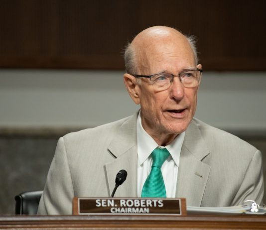 U.S. Sens. Pat Roberts and Jerry Moran joined Republican colleagues to affirm 52-48 the nomination of U.S. Court of Appeals Judge Amy Coney Barrett to a vacancy on the U.S. Supreme Court. (Submitted/Kansas Reflector)