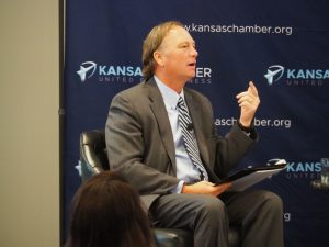 Alan Cobb, president and chief executive officer of the Kansas Chamber, said the business organization wants the 2021 Legislature and Gov. Laura Kelly to embrace a series of reforms to help the economy survive and recover from the COVID-19 pandemic. (Tim Carpenter/Kansas Reflector)