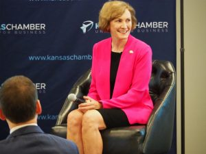 The campaign of Democratic U.S. Senate candidate Barbara Bollier is criticizing a commercial released by Marshall that selectively edits and takes out of context statements she's made about public service, political honesty and health costs. (Tim Carpenter/Kansas Reflector)