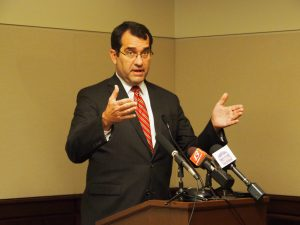 Kansas Attorney General Derek Schmidt anticipates a wave of federal lawsuits filed by criminal defendants alleging their constitutional rights were violated because Kansas didn't deliver a speedy trial. (Sherman Smith/Kansas Reflector)