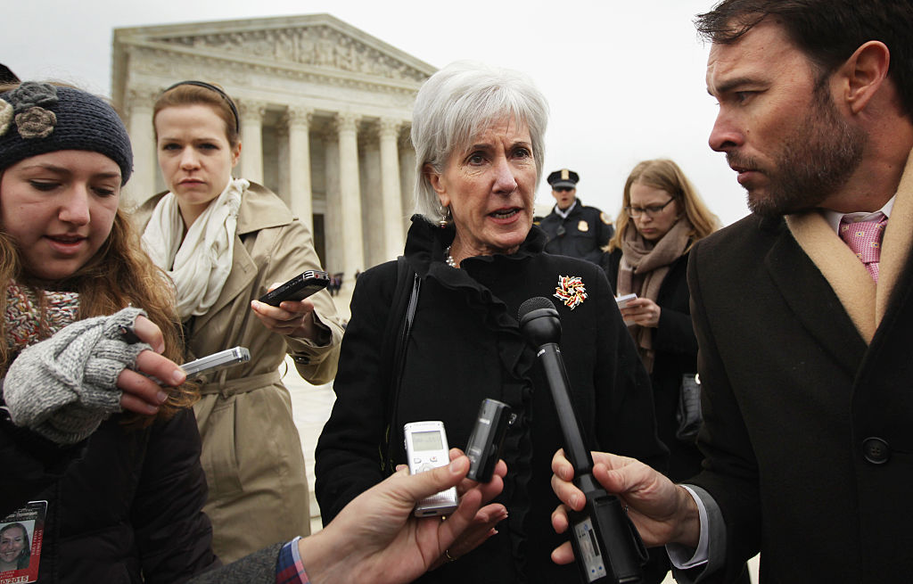Kathleen Sebelius, a former Kansas governor and former secretary of the U.S. Department of Health and Human Services, said Tuesday she was concerned about the Trump administration's ability to safely roll out a COVID-19 vaccine once proven effective through clinical trials. (Photo by Alex Wong/Getty Images)