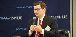 U.S. Rep. Jake LaTurner, the Republican elected in the 2nd District in November, said he would co-sponsor an amendment to the U.S. Constitution to limit terms of members of Congress. (Tim Carpenter/Kansas Reflector)