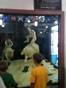 Fans of the Kansas State Fair's butter sculptures will have to wait until September 2021 for return of the fair due to COVID-19. Cancellation of most events will wipe out the estimated $70 million annual economic benefit to the fair in Hutchinson. (Tim Carpenter/Kansas Reflector)
