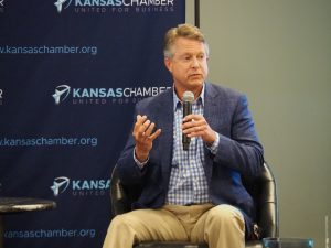 "U.S. Senate candidate Roger Marshall, a Republican running against Democrat Barbara Bollier, said COVID-19 unemployment benefits have been too generous, businesses need liability protection due to the pandemic and Americans need to stop fearmongering about the virus because ""we're winning the war on it."" (Tim Carpenter/Kansas Reflector)"