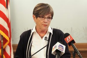 Gov. Laura Kelly says the Kansas Department of Labor's antiquated computer system for processing unemployment benefits was overwhelmed by claims as COVID-19 began to grip the state, but the agency deserves credit for its response during the the public health emergency. (Sherman Smith/Kansas Reflector)
