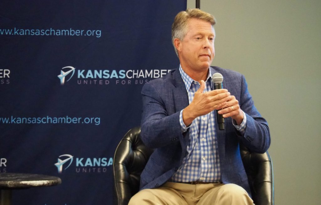 U.S. Rep. Roger Marshall joined Kansas Republicans Steve Watkins and Ron Estes as well as Democratic Rep. Sharice Davids in voting against the COVID-19 stimulus bill approved by the U.S. House. (Tim Carpenter/Kansas Reflector)