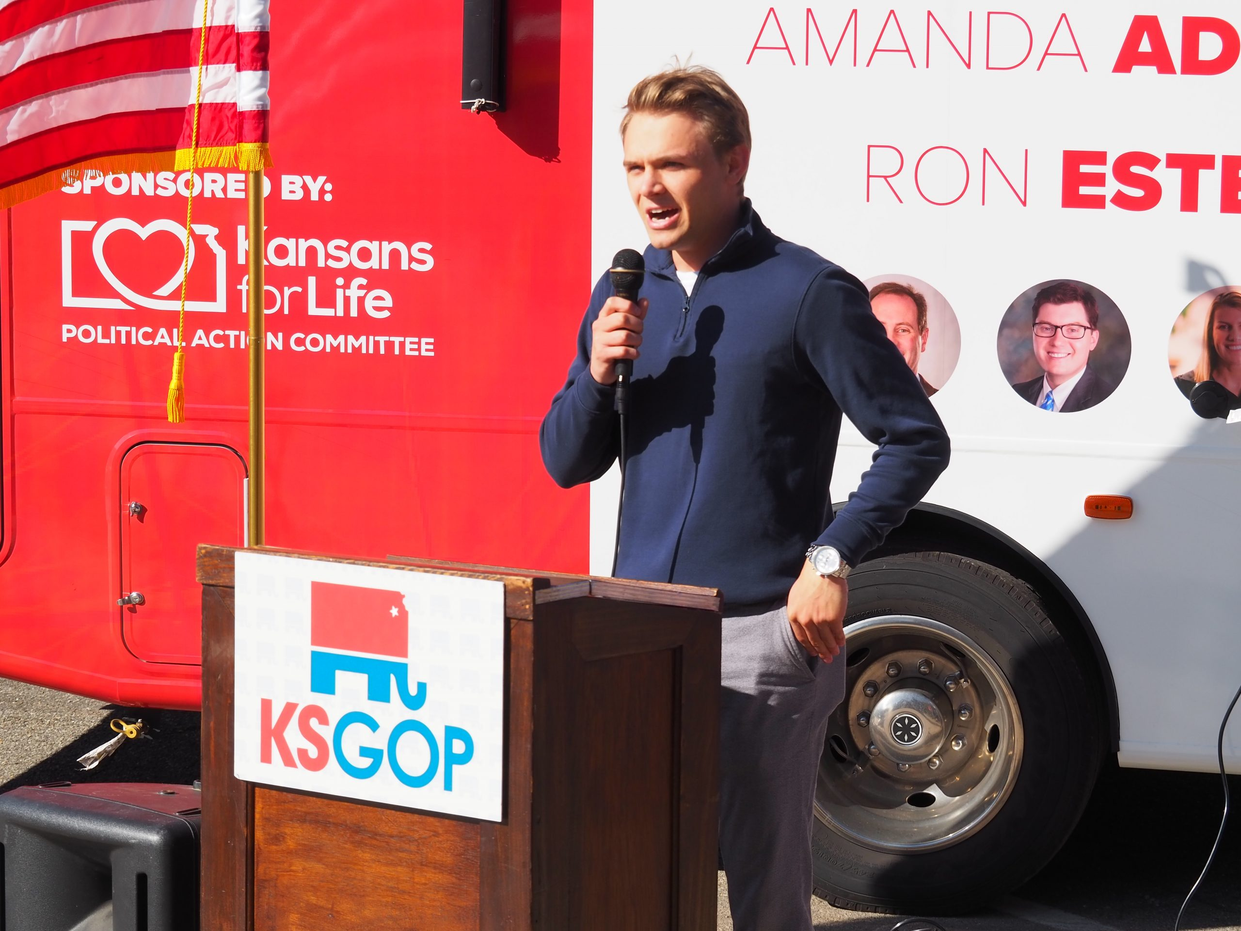 Avery Anderson, the Republican nominee for the Kansas House seat in Newton, explains why voters should reject the re-election bid of state Rep. Tim Hodge, a North Newton Demcorat, and help build a larger GOP majority in the Legislature. (Tim Carpenter/Kansas Reflector)