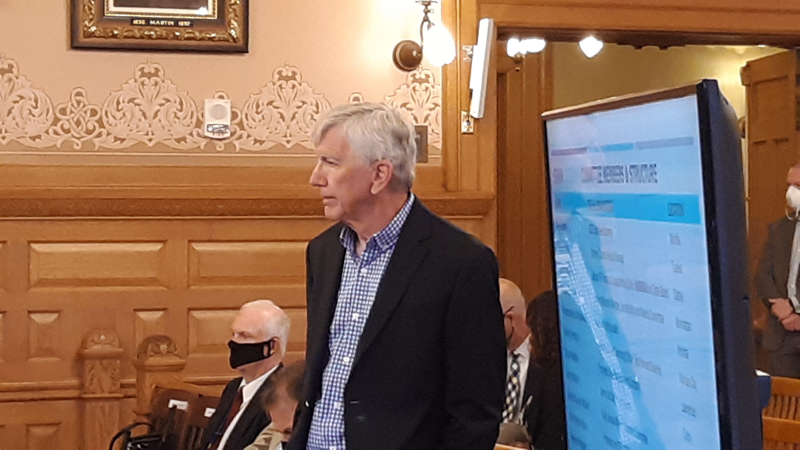 Lyle Butler, chairman of Gov. Laura Kelly's task force working with federal COVID-19 aid, said Kansas should have dramatically expanded testing statewide as far back as five months ago. (Tim Carpenter/Kansas Reflector)
