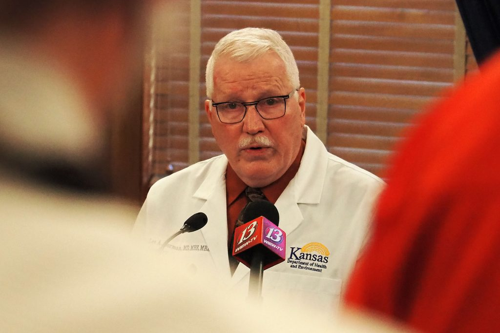 Lee Norman, the state's health officer and secretary of the Kansas Department of Health and Environment, issued an order requiring COVID-19 testing of residents and staff of adult daycare homes. (Sherman Smith/Kansas Reflector)