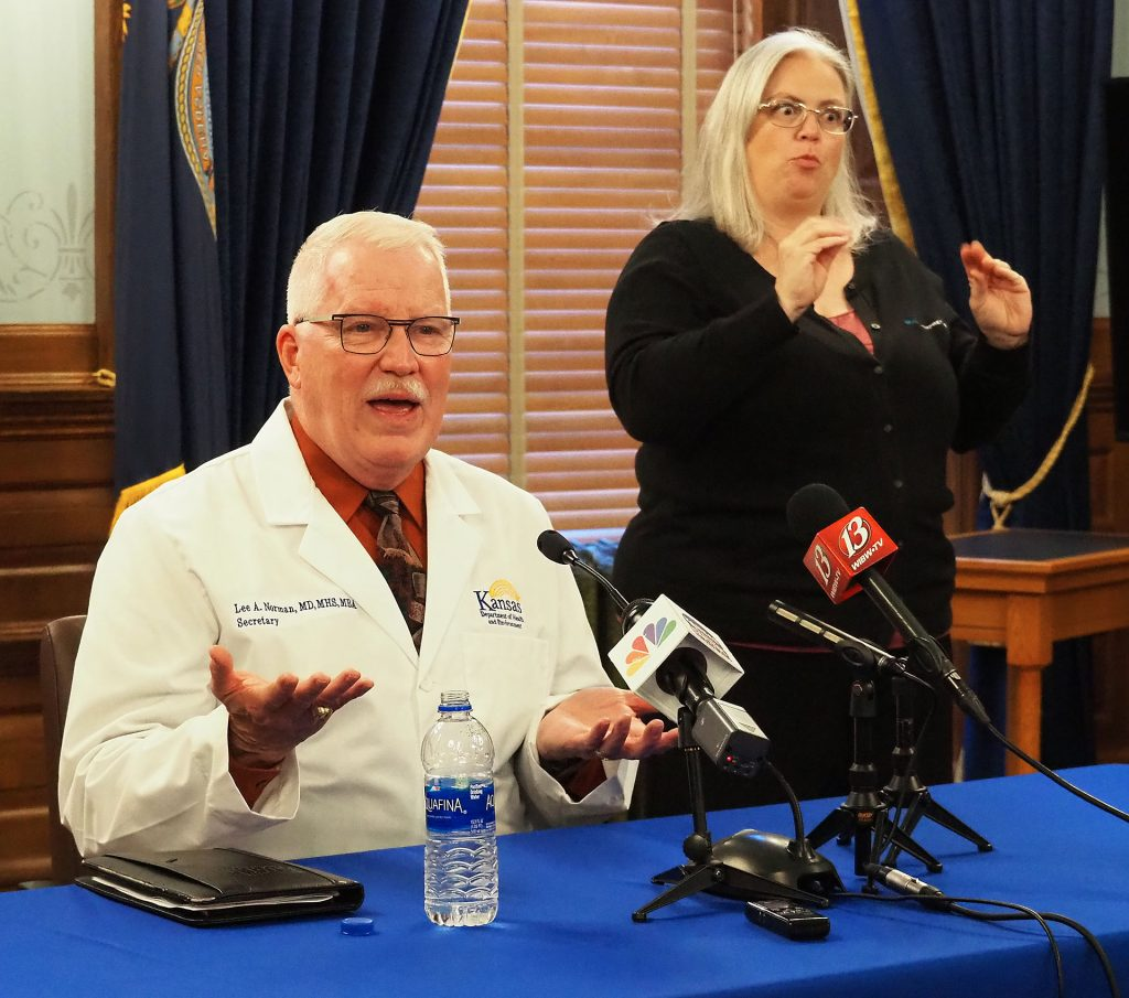Lee Norman, secretary of the Kansas Department of Health and Environment, says the agency's latest health report offers in-depth look at key medical and behavioral challenges facing Kansans. (Sherman Smith/Kansas Reflector)