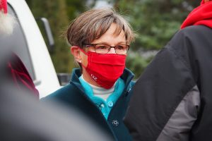 Kansas Gov. Laura Kelly, a Democrat, has struggled to convince county officials to abide by her executive order regarding the wearing of face masks during the COVID-19 pandemic. (Sherman Smith/Kansas Reflector)