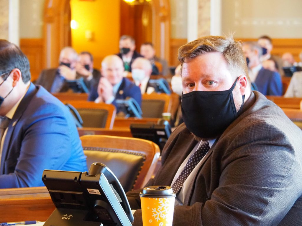 Rep. Blaine Finch, an Ottawa Republican, is adamant the Kansas Legislature efficiently work to obtain a new software system to handle work on bills and legislative business at the Capitol. (Noah Taborda/Kansas Reflector)