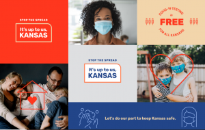 Gov. Laura Kelly says a new statewide campaign developed through a public-private partnership is underway to convince more Kansans to take basic steps to deter spread of COVID-19 and to take advantage of opportunities to be tested for the virus. (Submitted/Kansas Reflector)