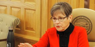 Democratic Gov. Laura Kelly says the 2021 Legislature needs to be cautious regarding tax reform measures to avoid cratering the state government's budget. (Sherman Smith/Kansas Reflector)