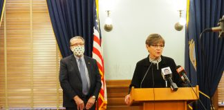 Gov. Laura Kelly and Lt. Gov. Lynn Rogers have launched the first comprehensive assessment of housing resources and needs in nearly 30 years. (Noah Taborda/Kansas Reflector)