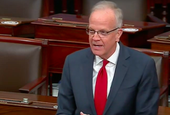 Repulbican U.S. Sen. Jerry Moran said he would vote against the Wednesday challenge of Electoral College votes that four Kansas GOP colleagues in Congress contend were tainted by scandal to give Democratic President-elect Jo Biden the victory. (Screenshot via Sen. Jerry Moran Youtube)