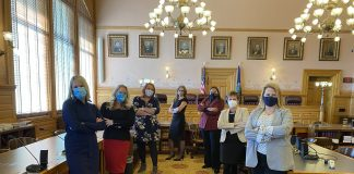 """Seven Democratic women elected to the Kansas House in November called for the resignation of Rep.-elect Aaron Coleman, of Kansas City, Kansas, for allegedly engaging in violent behavior against women and calling for a """"hit"""" on Gov. Laura Kelly. (Submitted)"""
