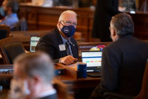 """Rep. Tom Burroughs, a Democrat from Kansas City, Kansas, said there should be no substitute for a """"fair and transparent"""" process of redrawing legislative, congressional and state Board of Education district boundaries. (Pool photo by Evert Nelson/Topeka Capital-Journal)"""