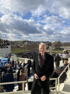 U.S. Sen. Jerry Moran, a Kansas Republican, attended the Wednesday inauguration of President Joe Biden in Washington, D.C. (Submitted/Kansas Reflector)