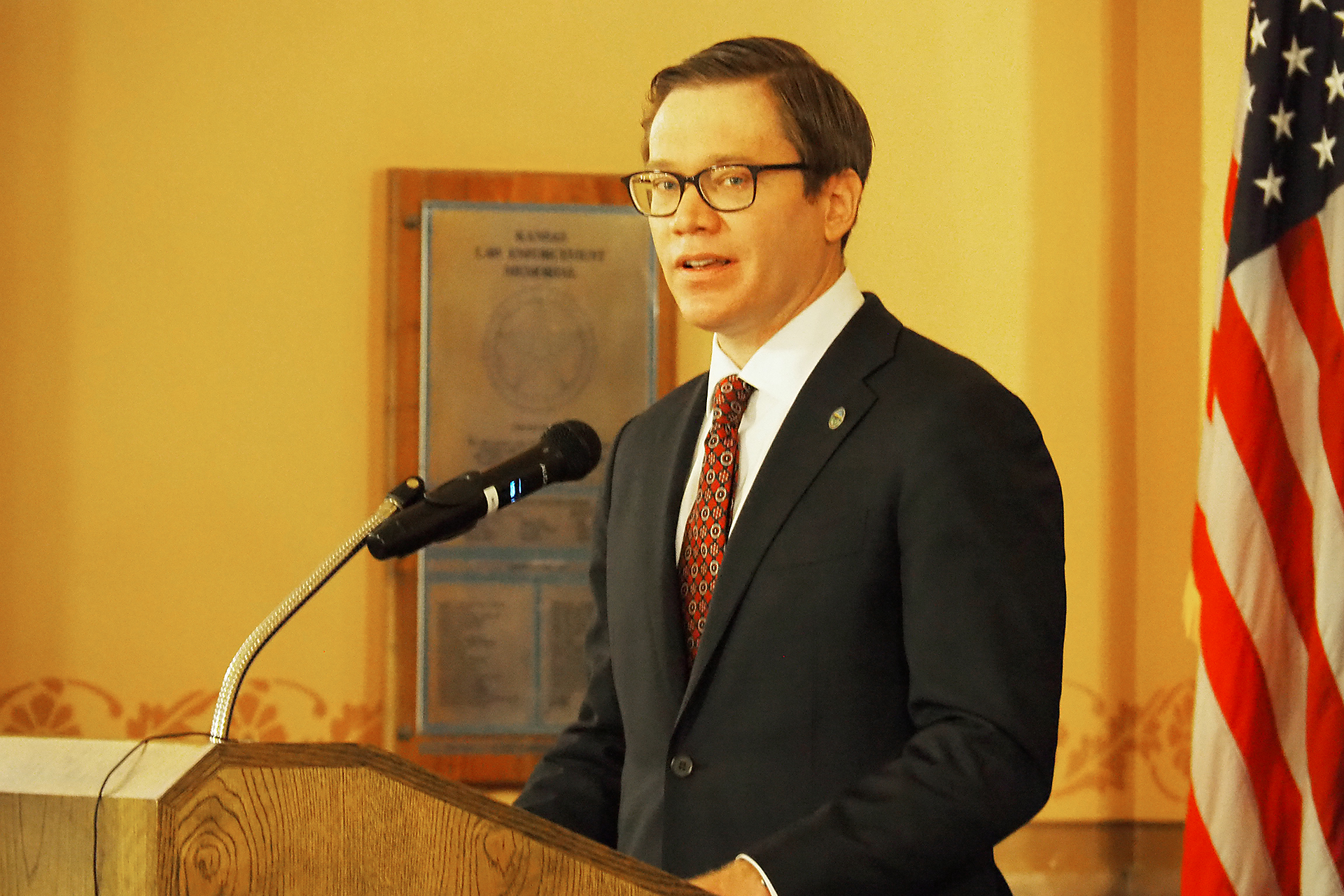 Toland sworn in as lieutenant governor of Kansas, but keeping old job at commerce