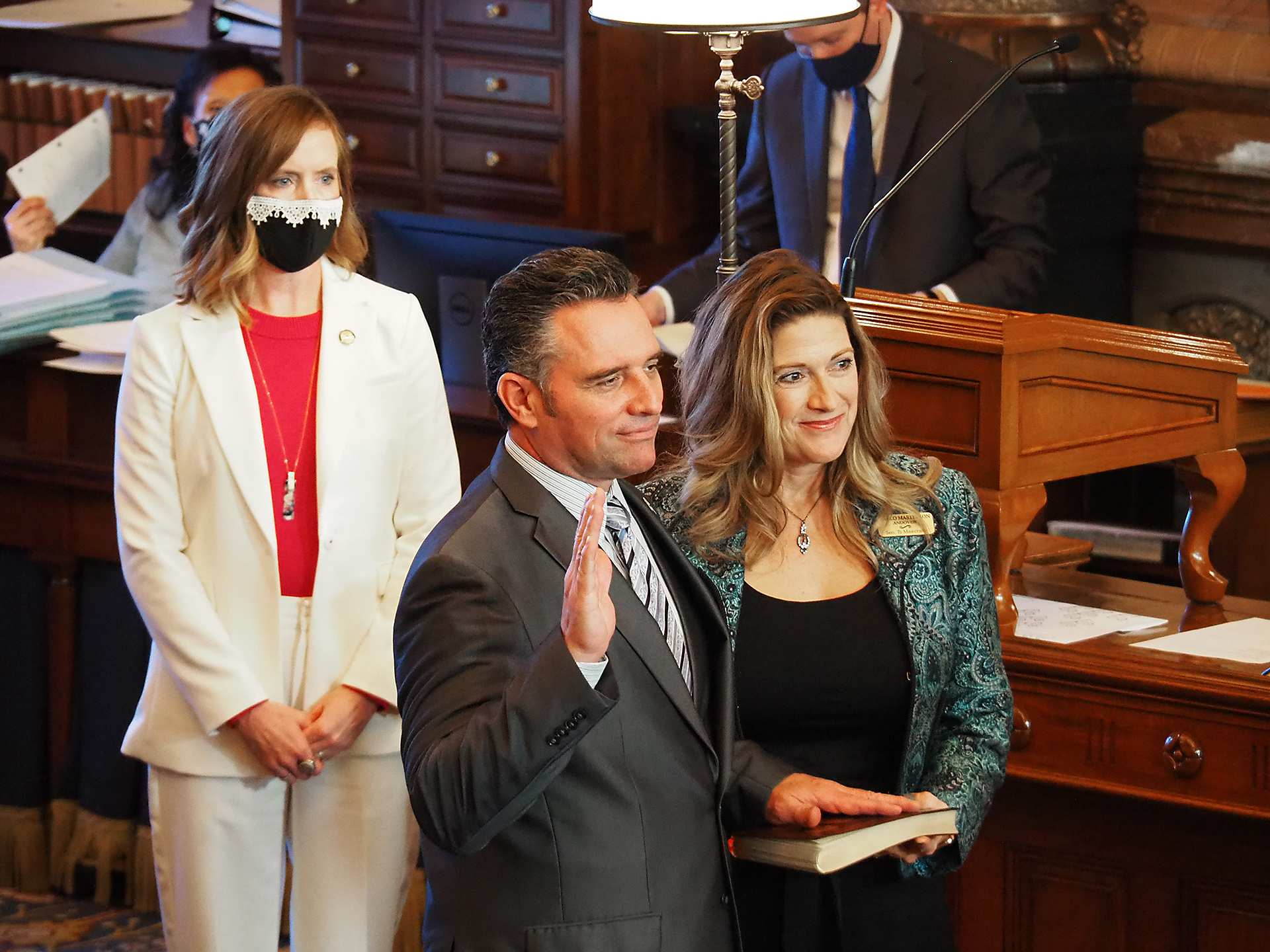 Senate President Ty Masterson, an Andover Republican, said in a broadcast speech Tuesday public policy on abortion, taxes and education must be framed by respect for constitutional liberties and individual freedoms. (Sherman Smith/Kansas Reflector)