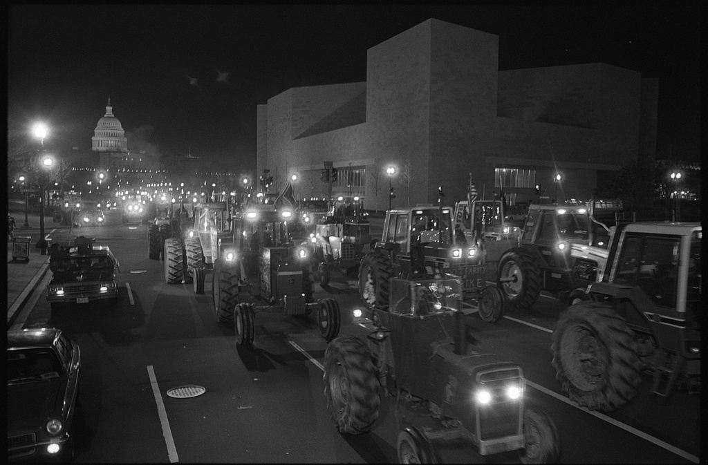 Unlike the 2021 insurrectionists, 1980s farmers in Kansas had legitimate reason to protest