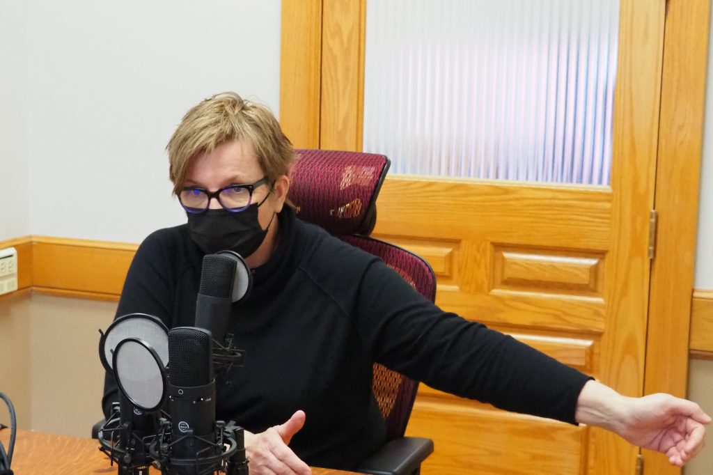 Janet Williams, founder of Minds Matter, the state's largest provider of services to people with brain injuries, says on the Kansas Reflector podcast the state needs to make the $8 million investment to provide services to children and adults with serious brain injuries. (Noah Taborda/Kansas Reflector)