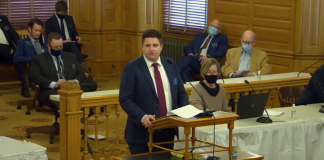 Jake Miller, a labor lawyer representing Working Kansas Alliance, warned an anti-union bill in the Kansas House touted by conservative think tanks placed unnecessary burdens on public employee organizations in a right-to-work state such as Kansas where no one has to join a union as a condition of employment. (Screen capture/Kansas Reflector)