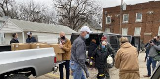 U.S. Sen. Jerry Moran, a Kansas Republican, participated in Operation Food Secure in Topeka and endorsed federal legislation to offer tax credits and grants to expand facilities serving people in food deserts with limited access to nutritious, affordable groceries. (Submitted/Kansas Reflector)