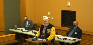 Retired U.S. Army Col. Lynn Rolf is convinced the state and federal governments should collaborate on construction of a $50 million nursing home for veterans in one of five northeast Kansas counties. (Screen capture/Kansas Reflector)