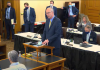 Blake Flanders, president of the Kansas Board of Regents, said a House budget amendment requiring tuition refunds to students for online courses and canceled classes could cost more than $150 million and be devastating to the public university system. (Screen capture/Kansas Reflector)