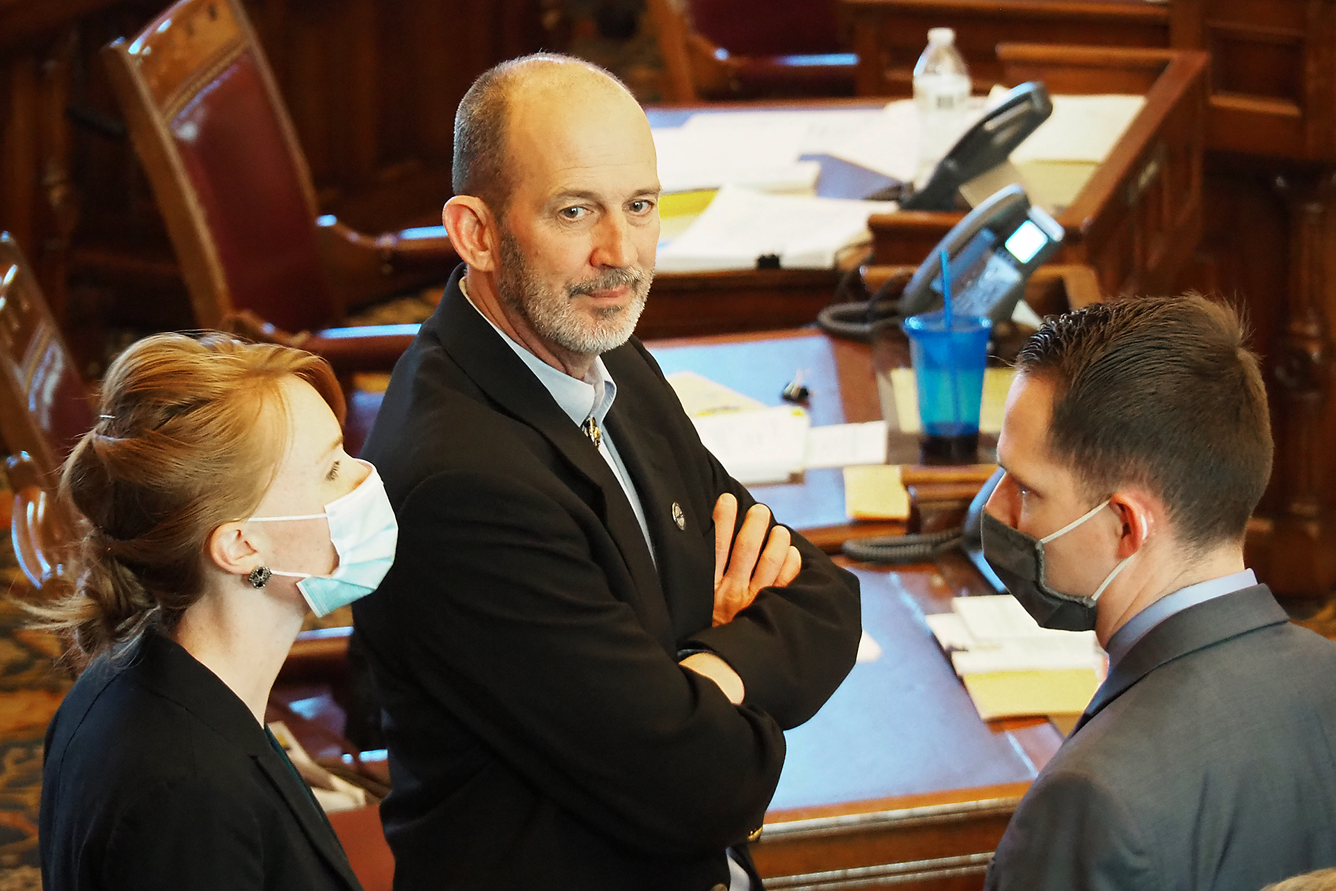 Sen. Mark Steffen, a Hutchinson Republican, helped shoot down Friday a proposal to offer $10 million in public-private matching funds to help rural Kansas hospitals innovate in delivery of health care to patients. (Sherman Smith/Kansas Reflector)